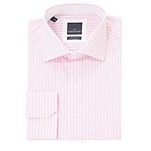 Buy Daniel Hechter Fine Stripe Tailored Shirt, Pink Online at johnlewis.com