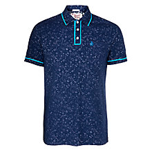 Buy Original Penguin Printed Floral Daddy Polo, Dress Blue Online at johnlewis.com