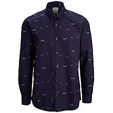 Buy Selected Homme Rower Collection Print Shirt, Navy Online at johnlewis.com