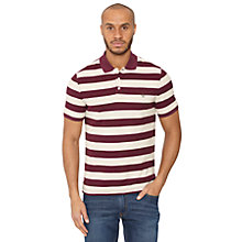 Buy Original Penguin Barstripe Polo Shirt, Mauve Wine Online at johnlewis.com