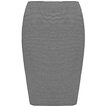 Buy Whistles Striped Jersey Tube Skirt, Blue/Multi Online at johnlewis.com