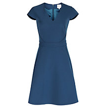 Buy Reiss Raw Edge Embellished Alsace Dress, Bright Navy Online at johnlewis.com