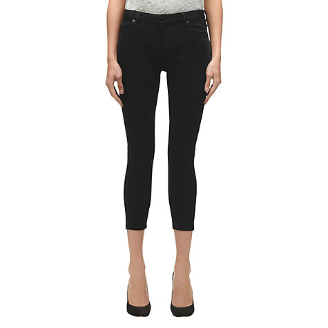 Buy Whistles 7/8 Jeans, Black Online at johnlewis.com