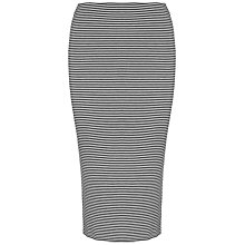 Buy Whistles Longline Striped Jersey Tube Skirt, Blue Multi Online at johnlewis.com