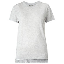 Buy Whistles Longline Split Hem T-Shirt, Grey Online at johnlewis.com