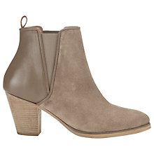 Buy Whistles Anita Suede & Leather Chelsea Ankle Boots, Taupe Online at johnlewis.com