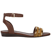 Buy Jigsaw Daisy Leather Bead Detail Sandal Online at johnlewis.com