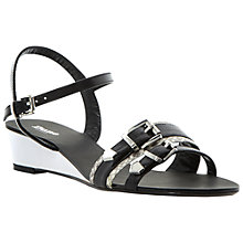 Buy Dune Gail Leather Wedge Sandals Online at johnlewis.com
