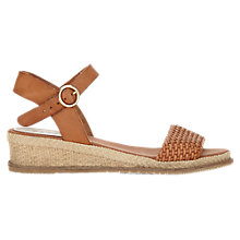 Buy Jigsaw Jay Espadrille Leather Sandals, Tan Online at johnlewis.com