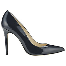 Buy Whistles French Point Toe Patent Stiletto Court Shoes, Navy Online at johnlewis.com