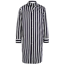 Buy Derek Rose Stripe Cotton Nightshirt, Navy Online at johnlewis.com