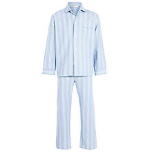 Buy Derek Rose Woven Cotton Stripe Pyjamas Online at johnlewis.com