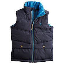 Buy Little Joule Boys' Burt Quilted Gilet, Navy Online at johnlewis.com