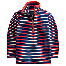Buy Little Joule Boys' Dale Stripe Sweatshirt, Navy/White/Red Online at johnlewis.com
