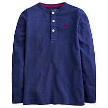 Buy Little Joule Boys' Feldon Slub Jersey Top, Navy Online at johnlewis.com