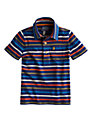 Little Joule Boys' Junior Tom Stripe Polo Shirt, Blue/Multi