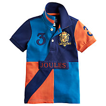 Buy Little Joule Boys' Junior Roxbury Polo Shirt, Teal/Orange Online at johnlewis.com