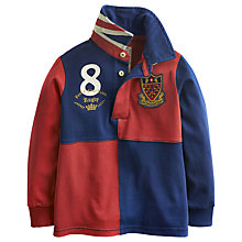 Buy Little Joule Boys' Rogues Rugby Polo, Red/Navy Online at johnlewis.com