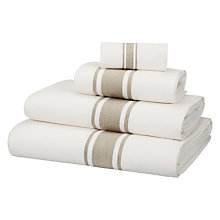 Buy John Lewis Croft Collection Waffle Linen Border Towels Online at johnlewis.com