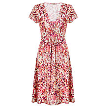 Buy Jigsaw Rose Petal Print Dress, Pink Online at johnlewis.com