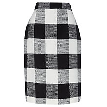 Buy Jaeger Blanket Check Skirt, Black / White Online at johnlewis.com