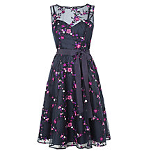 Buy Phase Eight Fleur Embroidered Dress, Navy Online at johnlewis.com