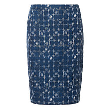 Buy Jigsaw Ethnic Spot Pencil Skirt, Ink Online at johnlewis.com
