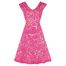 Buy Phase Eight Iman Tapework Dress, Pink Online at johnlewis.com
