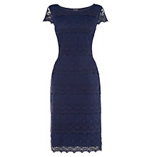 Buy Phase Eight Maura Lace Tiered Dress, Navy Online at johnlewis.com