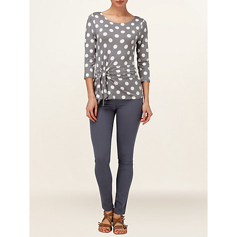 Buy Phase Eight Philly Spot Top, Pewter/White Online at johnlewis.com