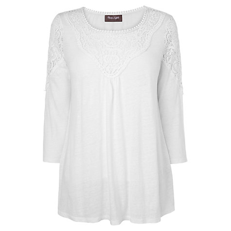 Buy Phase Eight Corrina Crochet Top, White Online at johnlewis.com
