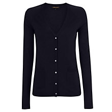 Buy Jaeger Wool Silk Blend Long Cardigan, Navy Online at johnlewis.com