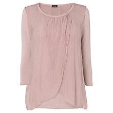 Buy Phase Eight Fliss Layered Silk Blouse, Pale Pink Online at johnlewis.com