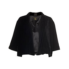 Buy Phase Eight Velvet Alexa Jacket, Black Online at johnlewis.com