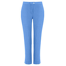 Buy Jaeger Slim Linen Capri Trousers, China Blue Online at johnlewis.com