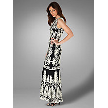 Buy Phase Eight Collection 8 Peninsular Tapework Dress, Ivory/Black Online at johnlewis.com