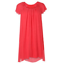 Buy Phase Eight Eloise Silk Frill Dress, Gerbera Online at johnlewis.com
