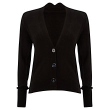 Buy Jaeger V Neck Cashmere Cardigan, Black Online at johnlewis.com