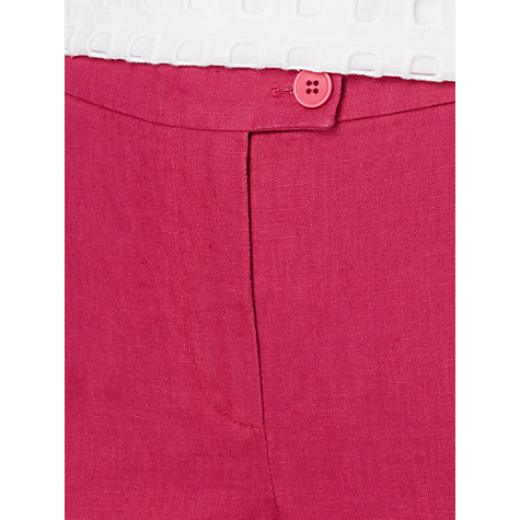 Buy Jaeger Slim Leg Linen Capri Pants, Raspberry Online at johnlewis.com
