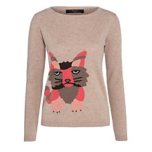 Buy Weekend by MaxMara Tobia Fox Intarsia Jumper, Camel Online at johnlewis.com