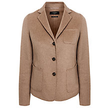 Buy Weekend by MaxMara Alca Double Wool Hand Sewn Blazer, Camel Online at johnlewis.com