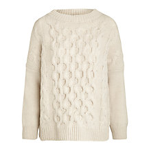 Buy Weekend by MaxMara Furetto Cable Knit Jumper, Milk Online at johnlewis.com