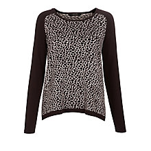 Buy Weekend by MaxMara Leopard Jumper, Sand Online at johnlewis.com