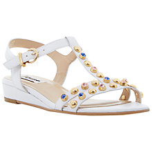 Buy Dune Leather Gems Wedge Sandals Online at johnlewis.com
