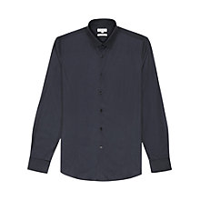 Buy Reiss Fire Grosgrain Detail Long Sleeve Shirt, Indigo Online at johnlewis.com
