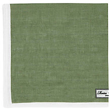 Buy Reiss Yacht Piped Linen Pocket Square, Green Online at johnlewis.com
