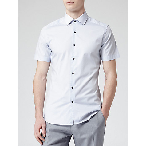 Buy Reiss Spitfire Contrast Collar Long Sleeve Shirt, Light Blue Online at johnlewis.com