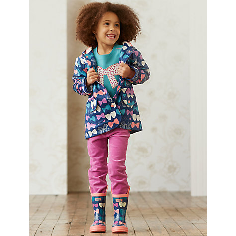 Buy Hatley Girl's Bow Raincoat, Navy Online at johnlewis.com