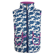 Buy Hatley Girl's Reversible Horse Gilet, Navy/Pink Online at johnlewis.com