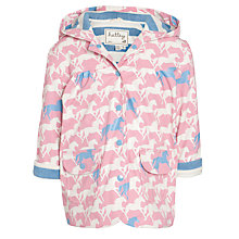Buy Hatley Girl's Horse Raincoat, Pink Online at johnlewis.com